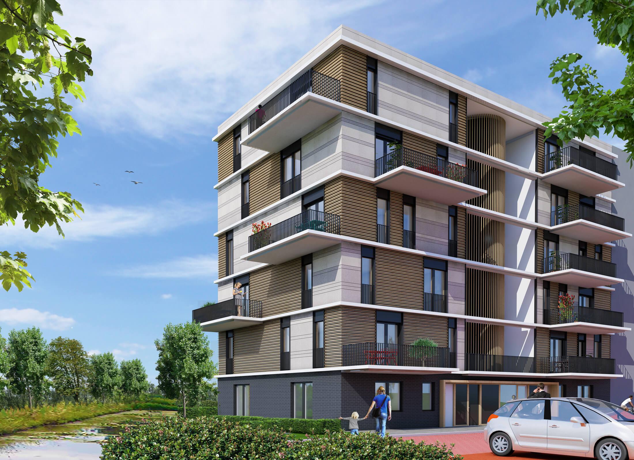 Nieuwbouw 12 appartementen Escampstaete te Tilburg
